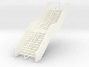HO Station Stairs H50.6 in White Processed Versatile Plastic