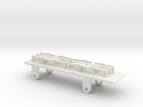 Furness D1, E1 & Cambrian SPC Tender - P4 Chassis in White Natural Versatile Plastic