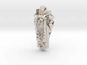 BigChief Pendant in Rhodium Plated Brass
