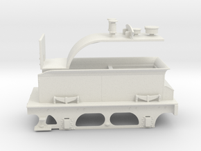 Furness D1 & E1 Tender - WSF in White Natural Versatile Plastic