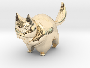 cute cat in 14K Yellow Gold: 1:12
