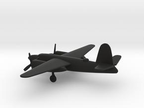 Martin B-26B-55 Marauder in Black Natural Versatile Plastic: 6mm