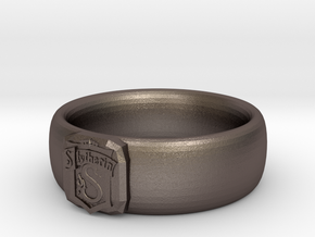 Slytherin Pride Ring in Polished Bronzed Silver Steel: 7 / 54