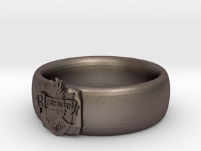 Ravenclaw Pride Ring in Polished Bronzed Silver Steel: 7 / 54