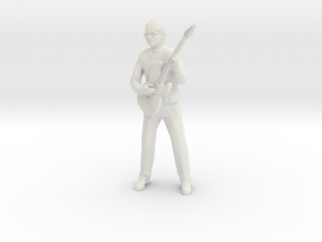 Guitar player with glasses in White Natural Versatile Plastic