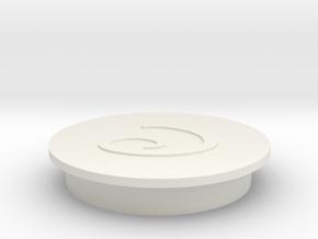 Faucet Handle Cap (Cold) in White Natural Versatile Plastic