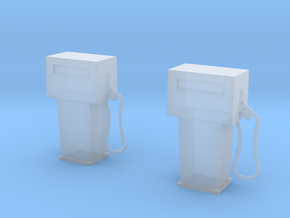 1/60 gas pump X 2 in Smooth Fine Detail Plastic