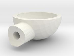 Round Light Housing in White Natural Versatile Plastic