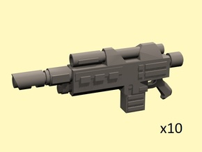 28mm SciFi hot shot rifles in Smoothest Fine Detail Plastic