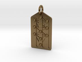 Three Pillars Tree of Life Medallion in Natural Bronze