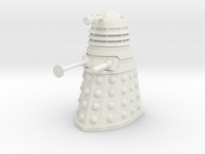 Dalek Mk I - Neutral Pose in White Natural Versatile Plastic