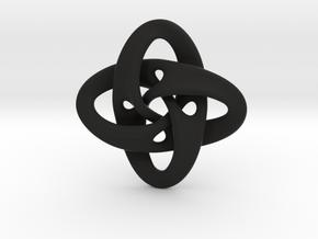 Sphere Eversion (small version) in Black Natural Versatile Plastic
