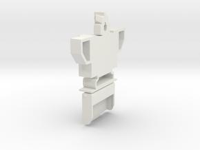 Soundwave Bust Cassette case in White Natural Versatile Plastic