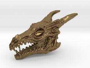 Dragon Skull in Natural Bronze