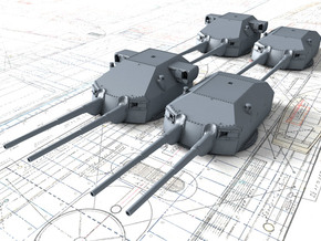 1/400 DKM 20.3cm/60 SK C/34 Guns with Bags 1941  in Smoothest Fine Detail Plastic