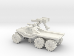 All-Terrain Vehicle 6x6 with open cargo bed in White Natural Versatile Plastic