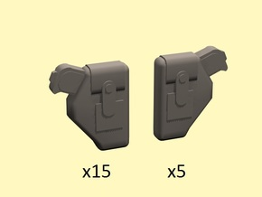 28mm Holstered pistols in Smoothest Fine Detail Plastic