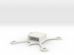 Main Body A1 in White Natural Versatile Plastic