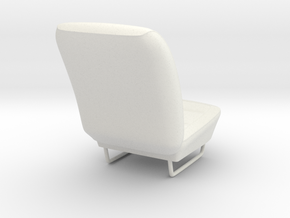 Dodge Charger Daytona 1969 Front Seat in White Natural Versatile Plastic