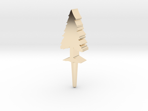 Tree Peg in 14k Gold Plated Brass