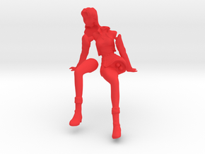 1/12 Misato Sitting in Red Processed Versatile Plastic