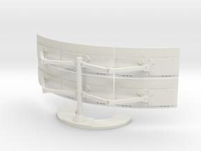 Multi Screen Monitor And Stand in White Natural Versatile Plastic