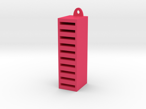 SD Card Holder in Pink Processed Versatile Plastic