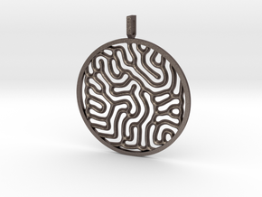 Gray Scott equations pendant in Stainless Steel