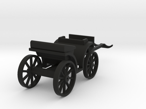 Carriage Two Seater S-Scale in Black Strong & Flexible