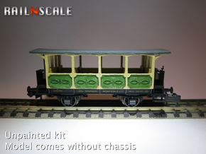 Aussichtswagen (N 1:160) in Smooth Fine Detail Plastic