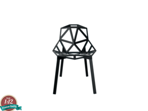 Miniature Chair One Stacking Base - Konstantin Grc in Smooth Fine Detail Plastic: 1:12