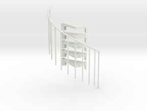 Stair Extension Kit Reverse Direction 1:12 in White Natural Versatile Plastic