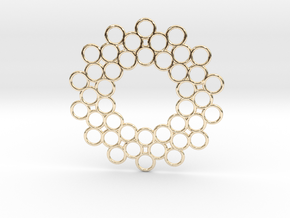 Circle Around Pendant in 14k Gold Plated Brass