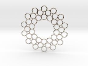 Circle Around Pendant in Rhodium Plated Brass
