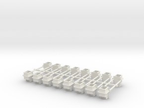 LOVSTED TYPE A117 STAKE POCKET in White Natural Versatile Plastic: 1:24