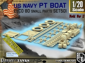 1/20 PT Boat Small Parts Set501 in Smooth Fine Detail Plastic