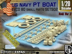 1/20 PT Boat Small Parts Set502 in Smooth Fine Detail Plastic