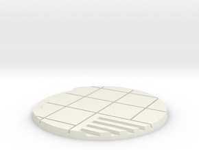 60mm Urban City Street Base - Style 2 in White Natural Versatile Plastic
