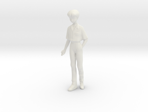 1/35 School Boy in Uniform in White Natural Versatile Plastic
