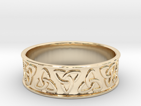 The Ancient Celtic Ring in 14K Yellow Gold