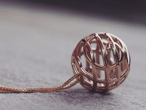 Rondure Pendant in Polished Bronze