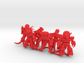 MiniCreatures: Six Pack 1 in Red Processed Versatile Plastic