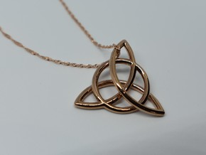 Trinity Pendant in 14k Rose Gold Plated
