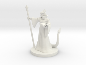 Tiefling Mage Male in White Natural Versatile Plastic