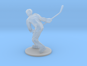 Scanned Hockey player -15CM High in Smooth Fine Detail Plastic