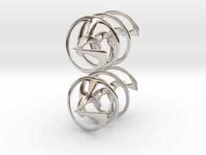 Auger - Earrings in precious metal in Rhodium Plated Brass
