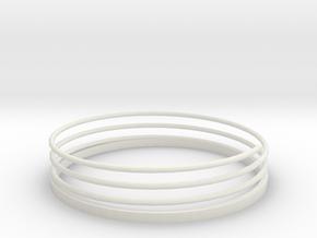 Spiral Bracelet in White Natural Versatile Plastic