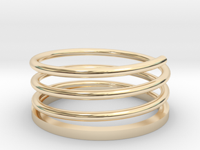 Spiral Ring in 14k Gold Plated: 3 / 44