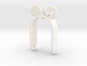 MINIE #8 KEY FOB  in White Processed Versatile Plastic