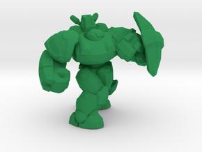 1/60 Armored Soldier Defending in Green Processed Versatile Plastic
